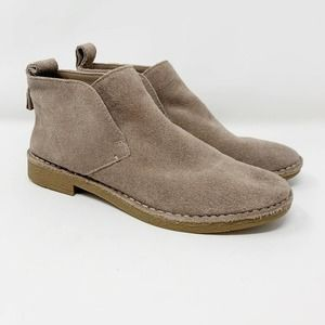 Dolce Vita Freya Ankle Booties Almond Suede 6